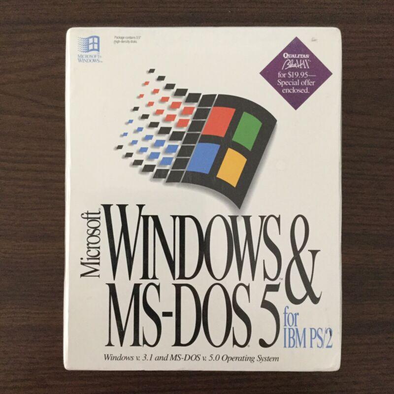 Microsoft Windows &MS-DOS5 For IBM PS/2 Windows v.3.1 MS-DOS v.5.0