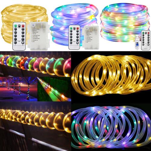 LED Lichtschlauch Lichtsteifen Leuchtschnur mit IR-Fernbedienung Wasserdicht USB