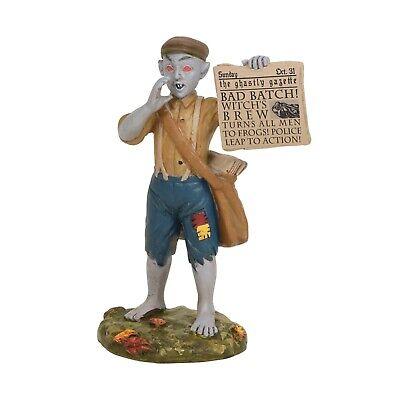 Villager News Halloween (Bad News Paperboy Demon Red Eyes Dept 56 Halloween Village Figurine)