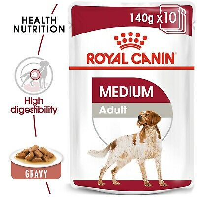 Royal Canin Medium Adult Wet Dog Gravy Pouches 140g x 20 FREE NEXT DAY DELIVERY