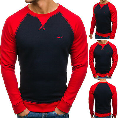 Herren Sweatshirt Langarmshirt Military Pullover Rundhals Logo BOLF 1A1 Sport Logo Military Sweatshirt