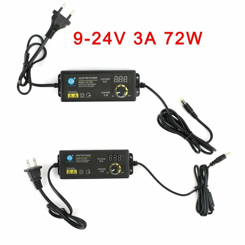 9V-24V 3A Electrical Power Supply Adapter Charger Variable Voltage Adjustable