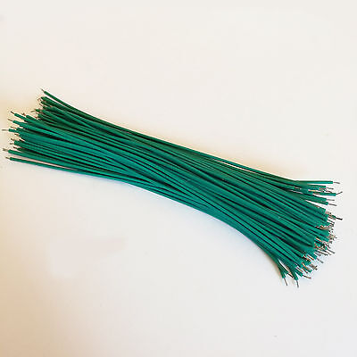 Us Stock 100x 15cm 5.9 Green Two Ends Tin-plated Breadboard Jumper Cable Wire