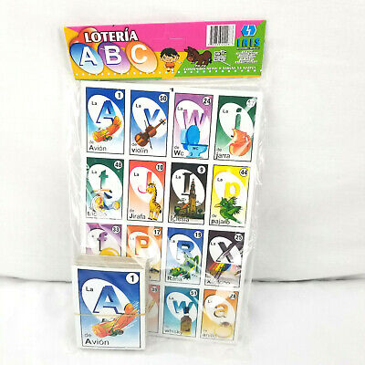 Loteria ABC Mexicana Family Set of 9 Boards and 54 Cards NEW Kids Learn ABCs