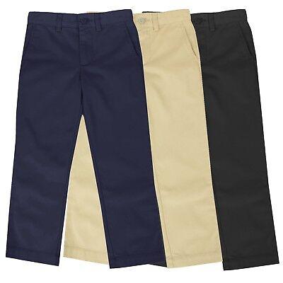 Boys School Uniform Pants New Size 4-16 Regular & Husky Flat Front Style NWT NEW Boys School Uniform Pant