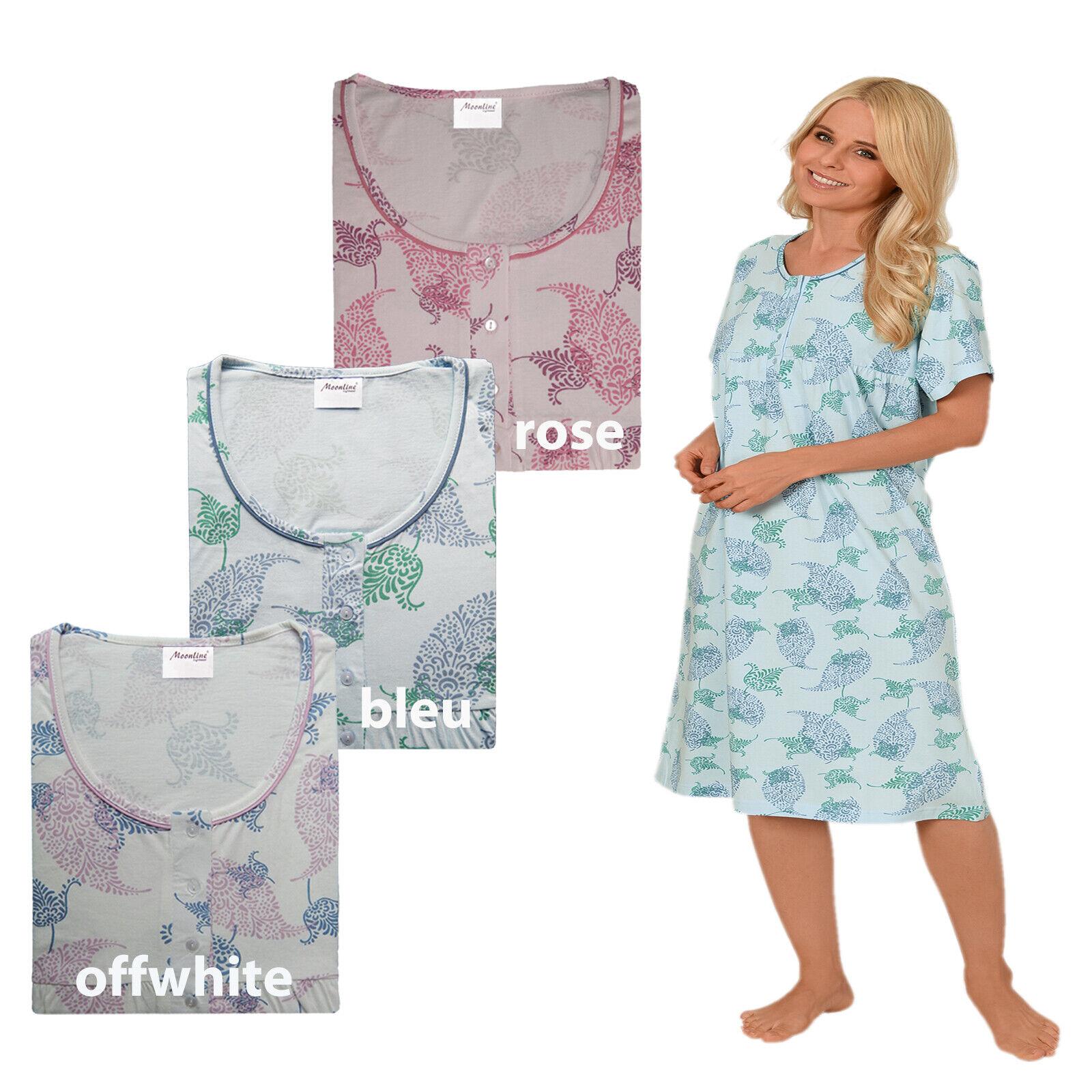 Damen Nachthemd 1/2 Arm 100% Baumwolle Gr. 40 42 44 46 48 50 52 54 M L XL XXL!!!