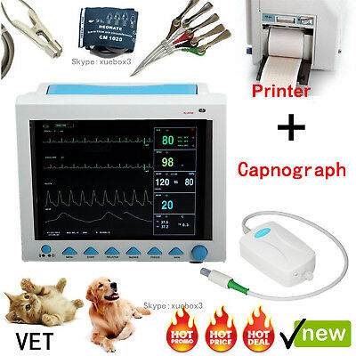 Contec Vet Veterinary Patient Monitor Capnograph Co2printer Cms8000 Parameters