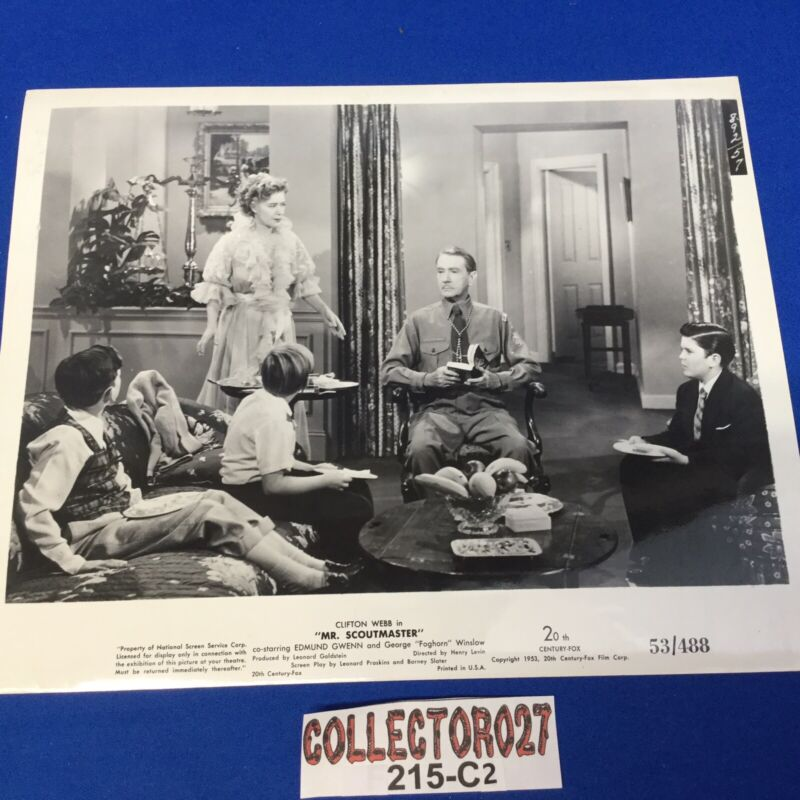 Boy Scout Movie Promo Photo Mr. Scoutmaster Clifton Webb 53/488 Group