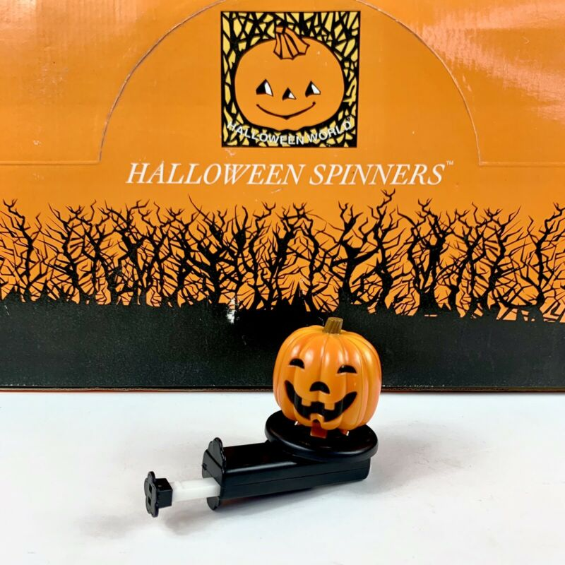 Vintage Halloween Spinner TOY Kurt S. Adler Pumpkin With Witch Inside SEE VIDEO!