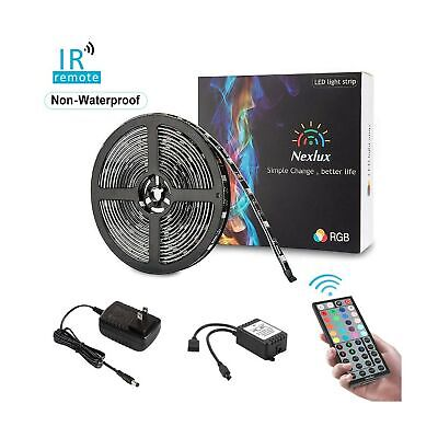 LED Flexible Strip Lights Bright RGB Dimmable Decorative Wireless Remote 16.4 ft