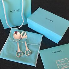 Tiffany & Co Genuine Baby Spoon & Fork Strathfield South Strathfield Area Preview