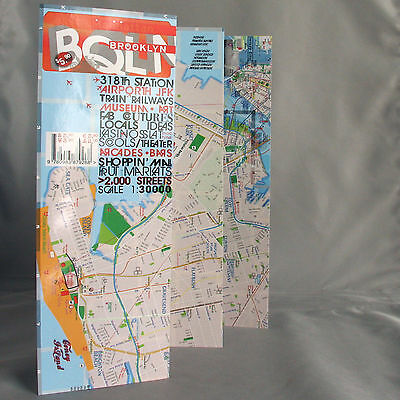 Map Laminated Brooklyn [Pay As You Wish] New York NY