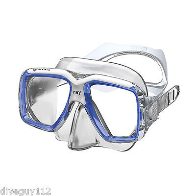 Mask Clear Scuba Dive - Mares Ray Mask ,FreeDive, Scuba, Diving Dive Blue White Clear