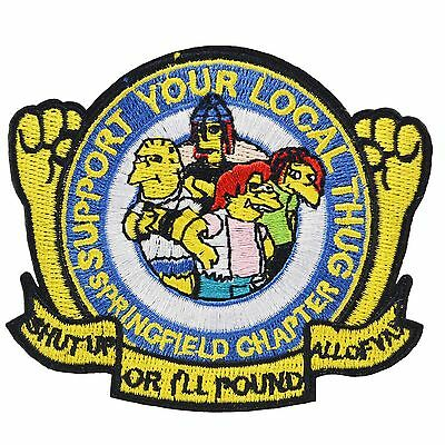 Local Costume (The Simpsons Support Local Thug Iron Patch Sew TV Movie Cartoon)