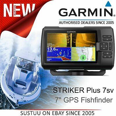 "Garmin STRIKER Plus 7sv 7"" GPS Fish Finder CHIRP sonar ClearVü Wi-Fi IPX7 Marine"