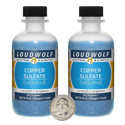Copper Sulfate 12 Ounces 2 Bottles 99.7 Pure Reagent Grade Dry Powder