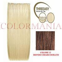 She Kit Threeasy 3 Fasce Extension Con Clip Colore 12 Biondo Chiaro Dorato -  - ebay.it