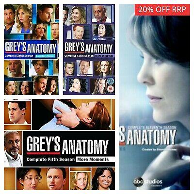 Greys Anatomy Season Series 1 2 3 4 5 6 7 8 9 10+ DVD - Select a Box Set - SALE