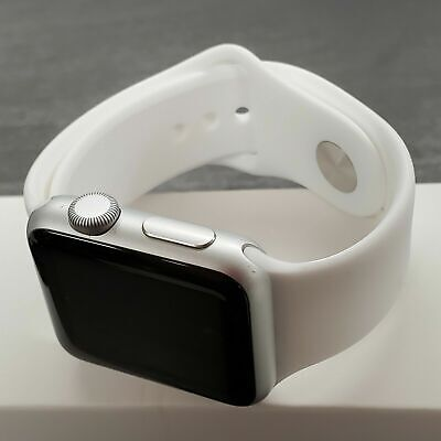 Apple Watch Series 1 38mm Smartwatch Silver Case White Band A GRADE**