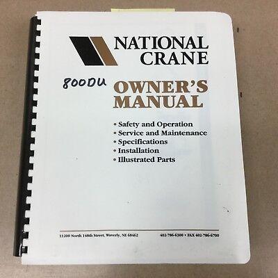 National 800du 880d Truck Crane Service Manual Parts Book Operation Maintenance