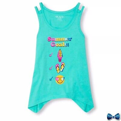 """The Childrens Place Size 16 """"Summer Goals"""" Tank New With Tags"""