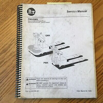 Bt Prime Mover Qmx Pmx Low Lift Electric Truck Service Repair Manual Pallet Jack