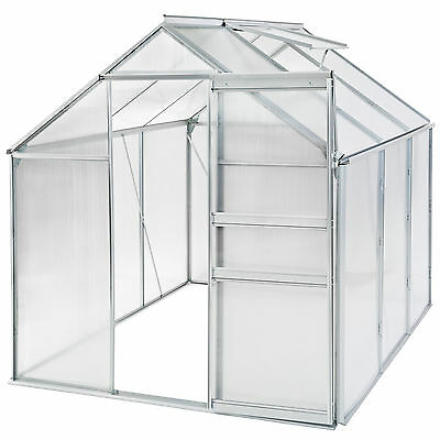 Greenhouse polycarbonate aluminium grow plants growhouse garden structure 5.7m³