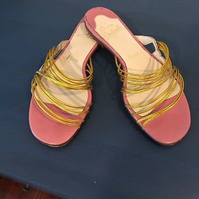 Christian Louboutin flat sandals flip flops pre owned site 39 ita
