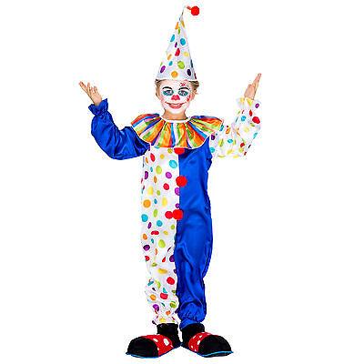 Kinder Clown Clownkostüm Harlekin Jungen Mädchen Kostüm Fasching Karneval