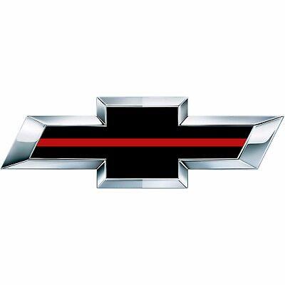 2 Silverado Thin Red Line Universal Chevy Bowtie Vinyl Sheets Emblem Overlay