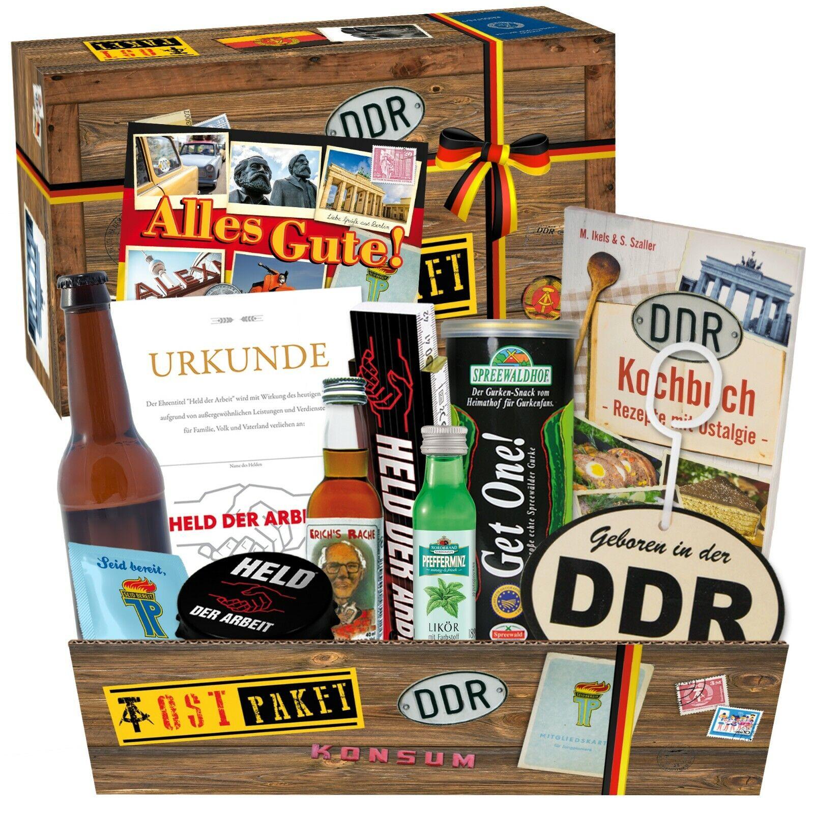 """Ostprodukte """"Männer Box"""" Geschenkkorb Biergeschenke aus der DDR 2951 3007"""