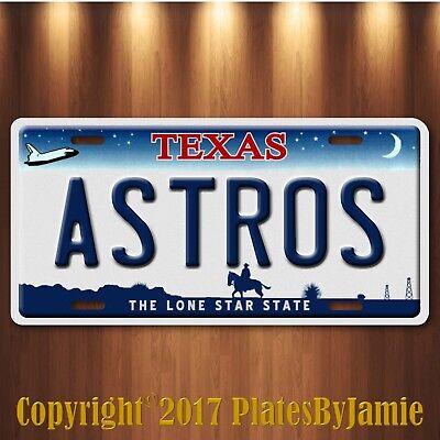 Houston Texas ASTROS World Series 2017 Champions Baseball Team License Plate Tag