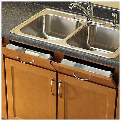 Kitchen Sink Front Tray Drawer Cabinet Tip Out Storage Organizer Hinges Hardware