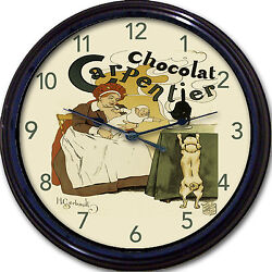Chocolate Carpentier Poster Wall Clock Gerbault Paris France Kitchen Affiche 10