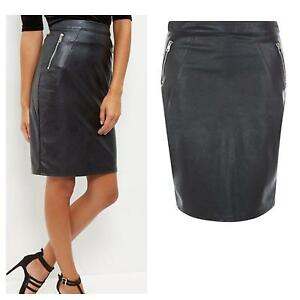 Black Leather Look skirt Bronte Eastern Suburbs Preview