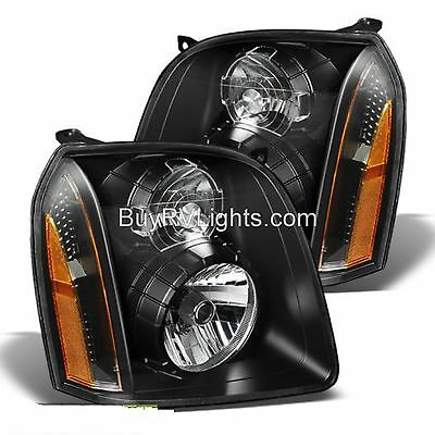 FLEETWOOD DISCOVERY 2014 2015 2016 PAIR FRONT HEAD LIGHT LAMP HEADLIGHT RV BLACK