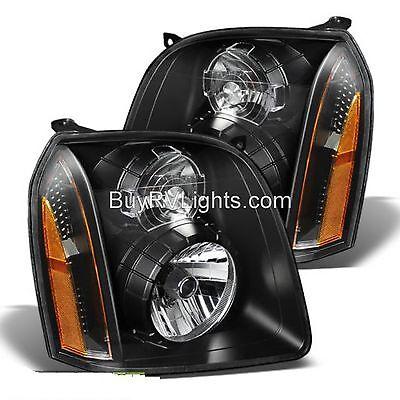 FLEETWOOD DISCOVERY 2014 2015 2016 PAIR FRONT HEAD LIGHT LAMP HEADLIGHT RV BLACK