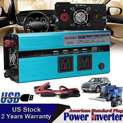 AUTOFATHER MOBILE POWER INVERTER 1500W/3000W WATT PEAK 12V DC TO 110V AC US (Ac Mobile Power Inverter)