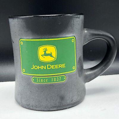 JOHN DEERE COFFEE MUG CUP RUSS green black tractor since 1837 plate deer elk usa ()
