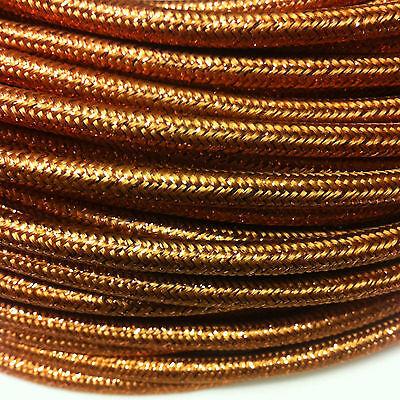 Cable Textil para Lámparas 2-adrig 2x0, 75 Repuesto Eléctrico Cobre Brillante