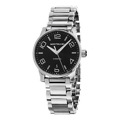 Montblanc Men's Timewalker Black Dial Stainless Steel Automatic Watch 105962