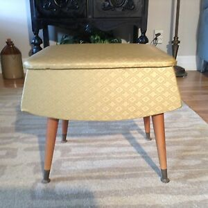 Vintage sewing or vanity stool.