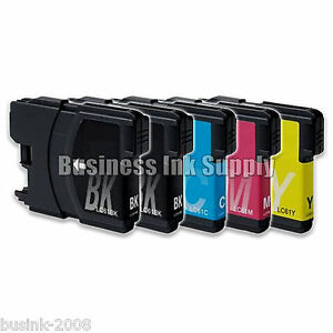 5 PK New LC61 Ink Cartridge for Brother Printer MFC-490CW MFC-J415W MFC-J615W
