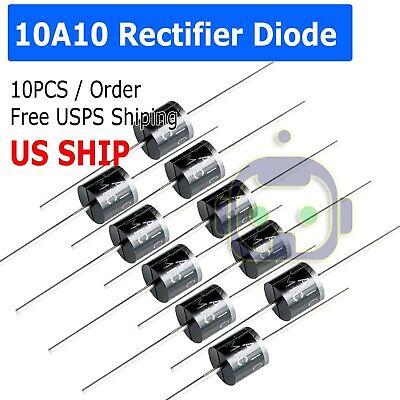 10a10 10 Amp 1000v 10a 1kv Axial Rectifier Diode 10 Pcs Usa Seller Solar Panel