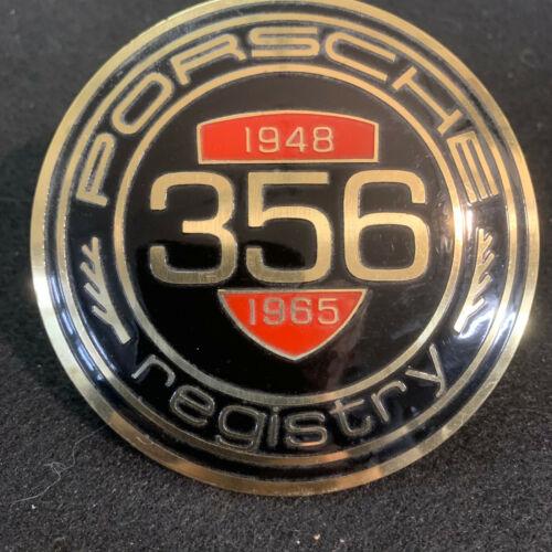 Vintage PORSCHE 356 Registry Grille Badge Never Mounted