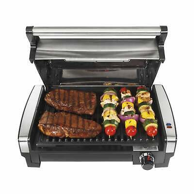 indoor searing grill with lid window stainless