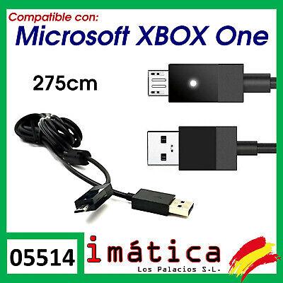 CABLE DE CARGA MICRO USB PARA MICROSOFT XBOX ONE 275 CM LARGO...