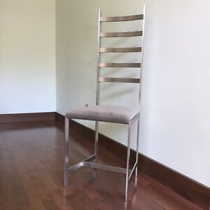 Two Dining Chairs ~ Solid Steel