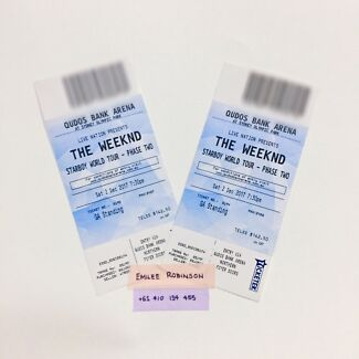 x2 GA STANDING WEEKND TICKETS - SYDNEY 2ND DECEMBER