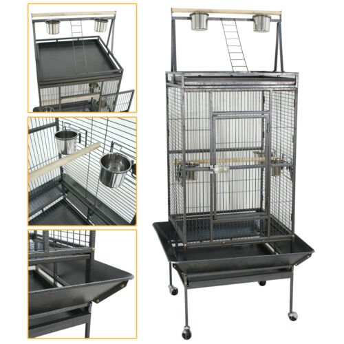 Parrot Open PlayTop 68″ Large Bird Cage Cockatiel Macaw Conure Aviary Finch Cage Bird Supplies